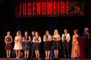 Jugendweihe auf der Bühne im Forster Hof